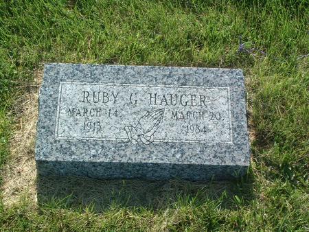 HAUGER, RUBY G. - Mills County, Iowa   RUBY G. HAUGER