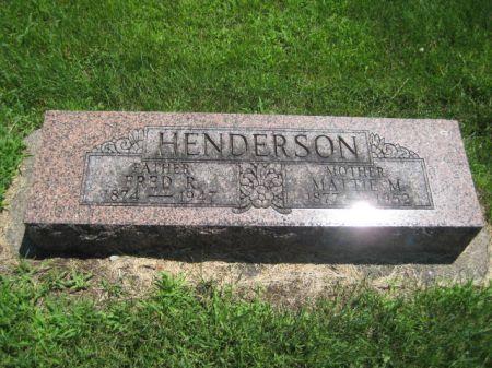 HENDERSON, MATTIE M. - Mills County, Iowa | MATTIE M. HENDERSON