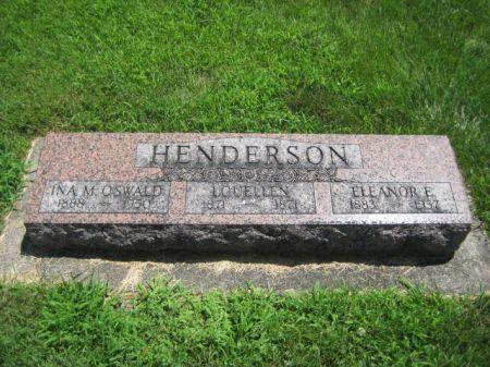 HENDERSON, LOUELLEN - Mills County, Iowa   LOUELLEN HENDERSON