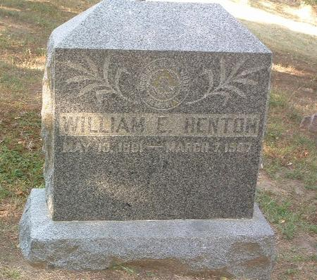 HENTON, WILLIAM E. - Mills County, Iowa | WILLIAM E. HENTON
