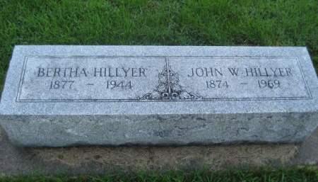 HILLYER, BERTHA - Mills County, Iowa | BERTHA HILLYER