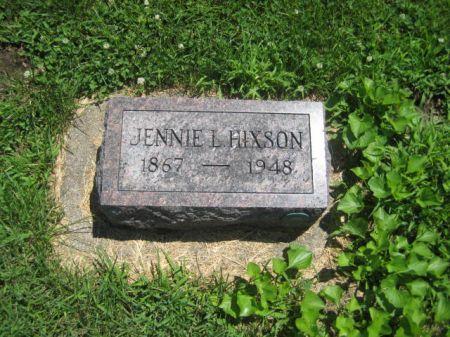 HIXSON, JENNIE L. - Mills County, Iowa | JENNIE L. HIXSON