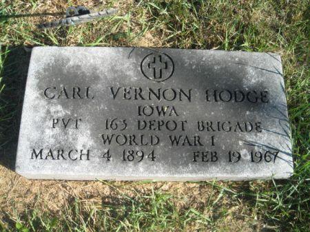 HODGE, CARL VERNON - Mills County, Iowa | CARL VERNON HODGE