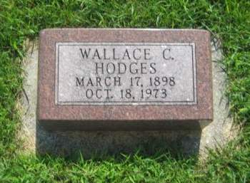 HODGES, WALLACE C. - Mills County, Iowa   WALLACE C. HODGES