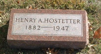 HOSTETTER, HENRY A. - Mills County, Iowa | HENRY A. HOSTETTER