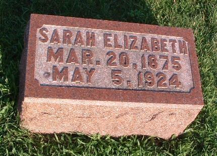 HOWARD, SARAH ELIZABETH - Mills County, Iowa | SARAH ELIZABETH HOWARD