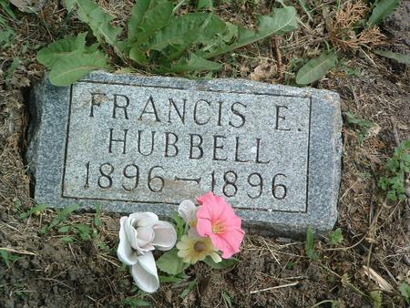 HUBBELL, FRANCIS E. - Mills County, Iowa   FRANCIS E. HUBBELL
