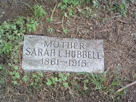 HUBBELL, SARAH L. - Mills County, Iowa   SARAH L. HUBBELL