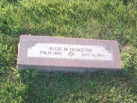 HUMSTON, ALLIE M. - Mills County, Iowa | ALLIE M. HUMSTON