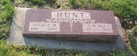 HUNT, LUCILLE M. - Mills County, Iowa   LUCILLE M. HUNT