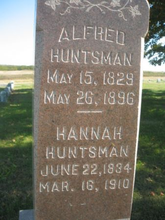 HUNTSMAN, ALFRED - Mills County, Iowa   ALFRED HUNTSMAN