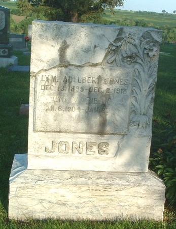 JONES, LYM. ADELBERT - Mills County, Iowa | LYM. ADELBERT JONES