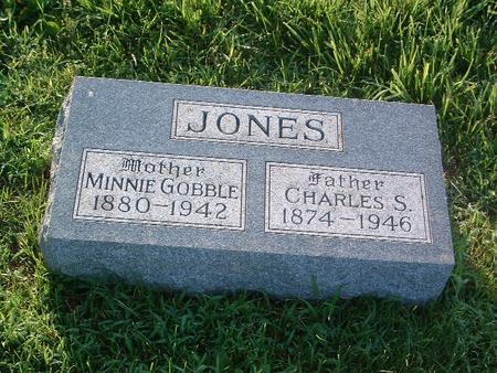 GOBBLE JONES, MINNIE - Mills County, Iowa | MINNIE GOBBLE JONES