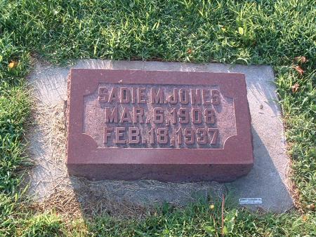 JONES, SADIE M. - Mills County, Iowa | SADIE M. JONES
