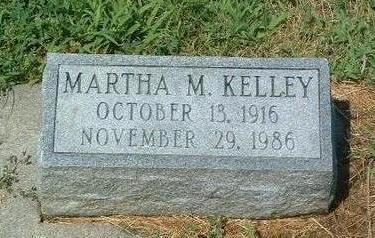 KELLEY, MARTHA M. - Mills County, Iowa | MARTHA M. KELLEY