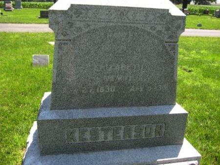 KESTERSON, ELIZABETH - Mills County, Iowa   ELIZABETH KESTERSON