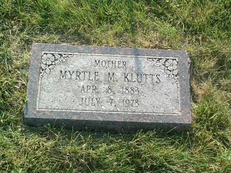 KLUTTS, MYRTLE M. - Mills County, Iowa   MYRTLE M. KLUTTS