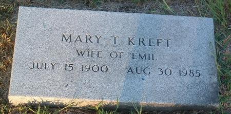 KREFT, MARY T. - Mills County, Iowa | MARY T. KREFT