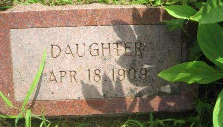 LANG, DAUGHTER - Mills County, Iowa   DAUGHTER LANG