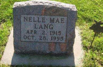 LANG, NELLE MAE - Mills County, Iowa | NELLE MAE LANG