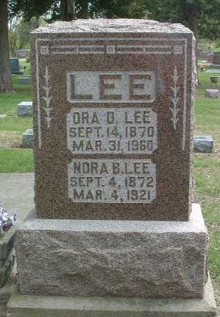 LEE, NORA B. - Mills County, Iowa | NORA B. LEE