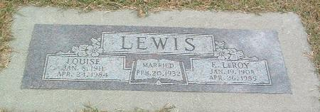 LEWIS, LOUISE - Mills County, Iowa | LOUISE LEWIS