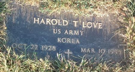 LOVE, HAROLD T. - Mills County, Iowa   HAROLD T. LOVE