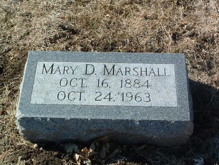 MARSHALL, MARY D. - Mills County, Iowa | MARY D. MARSHALL