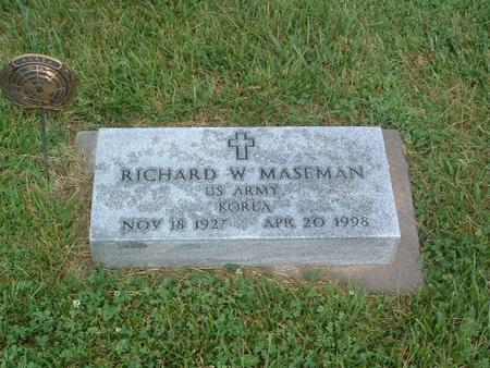 MASEMAN, RICHARD W. - Mills County, Iowa   RICHARD W. MASEMAN