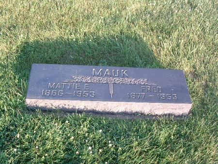 MAUK, MATTIE E. - Mills County, Iowa | MATTIE E. MAUK