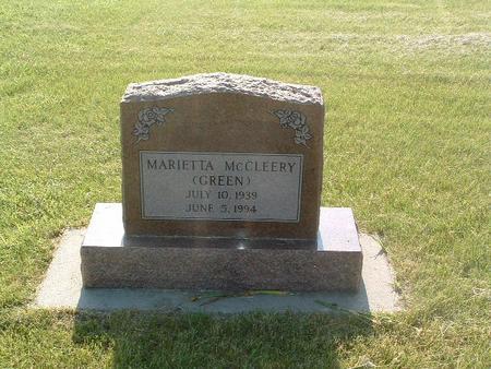 MCCLEERY, MARIETTA - Mills County, Iowa   MARIETTA MCCLEERY