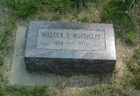 MCCOLLEY, WALTER E. - Mills County, Iowa   WALTER E. MCCOLLEY
