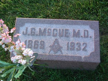 MCCUE, J.G. - Mills County, Iowa   J.G. MCCUE