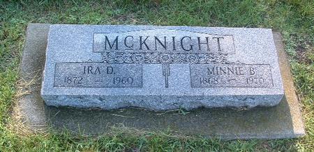 MCKNIGHT, MINNIE B. - Mills County, Iowa | MINNIE B. MCKNIGHT