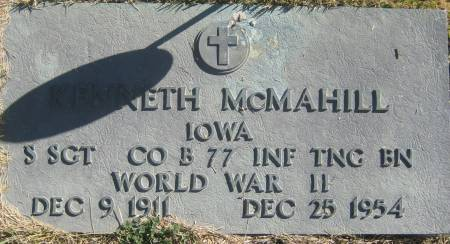 MCMAHILL, KENNETH - Mills County, Iowa   KENNETH MCMAHILL