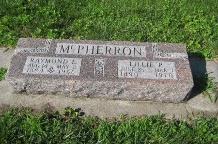 MCPHERRON, RAYMOND E. - Mills County, Iowa   RAYMOND E. MCPHERRON