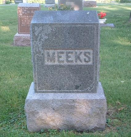 MEEKS, FAMILY HEADSTONE - Mills County, Iowa | FAMILY HEADSTONE MEEKS