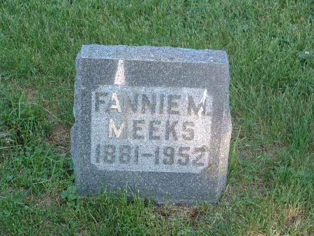 MEEKS, FANNIE M. - Mills County, Iowa | FANNIE M. MEEKS