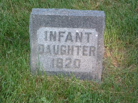 MEEKS, INFANT DAUGHTER - Mills County, Iowa | INFANT DAUGHTER MEEKS
