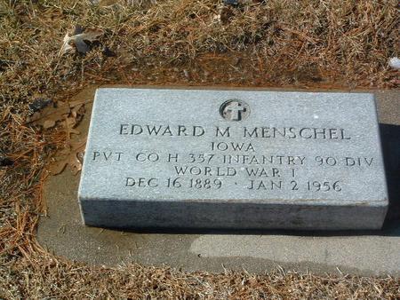 MENSCHEL, EDWARD M. - Mills County, Iowa   EDWARD M. MENSCHEL