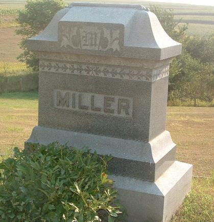 MILLER, FAMILY HEADSTONE - Mills County, Iowa   FAMILY HEADSTONE MILLER