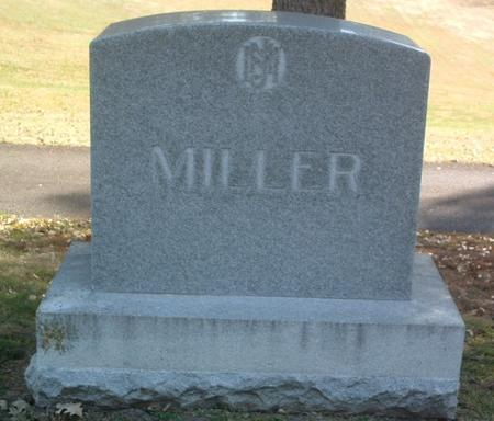 MILLER, FAMILY HEADSTONE - Mills County, Iowa | FAMILY HEADSTONE MILLER