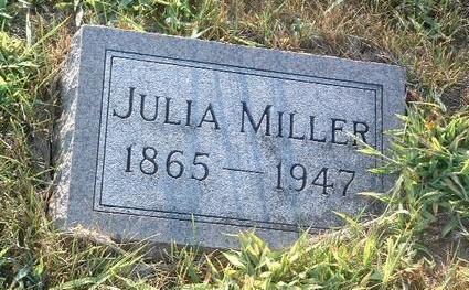 MILLER, JULIA - Mills County, Iowa   JULIA MILLER