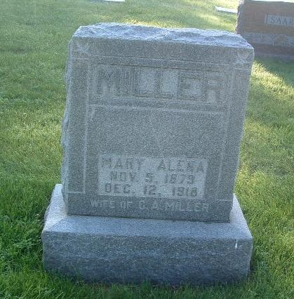 MILLER, MARY ALENA - Mills County, Iowa | MARY ALENA MILLER