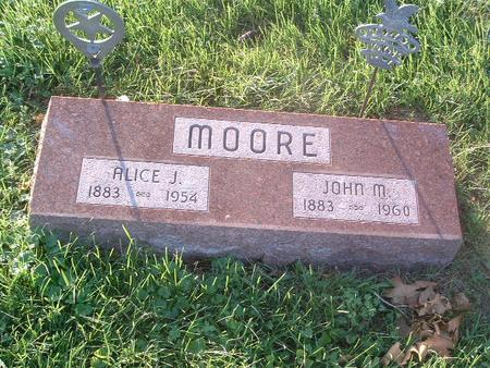 MOORE, ALICE J. - Mills County, Iowa | ALICE J. MOORE