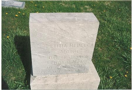 MOORE, LETITIA REBECCA - Mills County, Iowa | LETITIA REBECCA MOORE