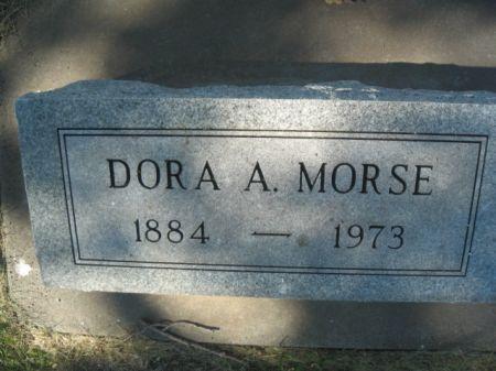 MORSE, DORA A. - Mills County, Iowa   DORA A. MORSE