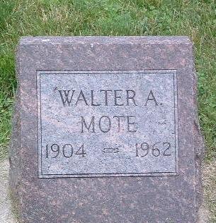 MOTE, WALTER A. - Mills County, Iowa | WALTER A. MOTE