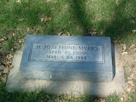 MYERS, H. JOSEPHINE - Mills County, Iowa   H. JOSEPHINE MYERS