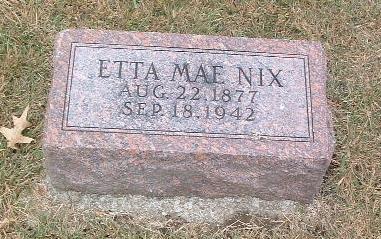NIX, ETTA MAE - Mills County, Iowa | ETTA MAE NIX